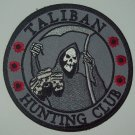 TALIBAN HUNTING CLUB DEATH REAPER HEAD HUNTER VELCRO MORALE MILITARY PATCH SWAT