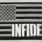 INFIDEL AMERICAN FLAG USA MOTORCYCLE BIKER JACKET VEST MORALE MILITARY PATCH