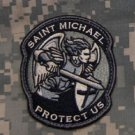 PROTECT US SAINT MICHAEL - ACU - TACTICAL BADGE MORALE VELCRO MILITARY PATCH