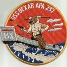 USS Bexar APA 237 Attack Transport Military Patch BULL