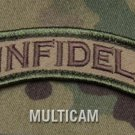 INFIDEL ROCKER TAB MULTICAM COMBAT TACTICAL BADGE MORALE VELCRO MILITARY PATCH