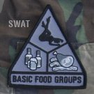 BASIC FOOD GROUPS SWAT ISAF TACTICAL COMBAT BADGE MORALE VELCRO MILITARY PATCH