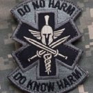 DO NO HARM SPARTAN ACU TACTICAL COMBAT MEDIC BADGE MORALE VELCRO MILITARY PATCH