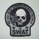 SWAT SNIPER DEATH SKULL POLICE PATCH (GRAY&BLACK)
