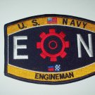 US NAVY ENGINEMAN - EN - RATING MILITARY PATCH