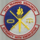 USAF United States Air Force 343rd Training Squadron Military Patch INTEGRITY