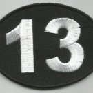 LUCKY 13 NUMBER 13 MOTORCYCLE LEATHER JACKET VEST BIKER PATCH