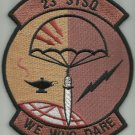 USAF 23rd Special Tactics Squadron WE WHO DARE Military Patch - 23rd STSQ