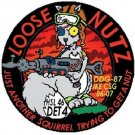 HSL-46 Patch Navy Helicopter Squad Det 4 Loose Nutz assigned DDG-87 USS Mason