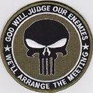 PUNISHER GOD WILL JUDGE OUR ENEMIES SEAL OD GREEN MILITARY PATCH