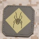 RED BACK ONE DESERT SPIDER TACT TRAINING BADGE MORALE PVC VELCRO MILITARY PATCH