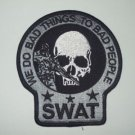 SWAT SNIPER DEATH SKULL PATCH (GRAY&BLACK)