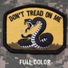 DON'T TREAD ON ME - COLOR - TACTICAL COMBAT  BADGE MORALE VELCRO MILITARY PATCH