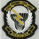 ARMY AIRBORNE (LRS) LONG RANGE SURVEILLANCE EYES BEHIND THE LINES MILITARY PATCH