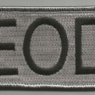 EOD TAB SILVER TACTICAL COMBAT BADGE ISAF OEF OIF MORALE VELCRO MILITARY PATCH