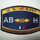 US Navy Aviation Boatswain's Mate Handling Rating Military Patch  - AB H