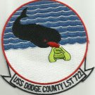 US NAVY USS DODGE COUNTY LST 722 Tank Landing Ship Military Patch