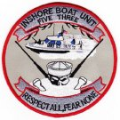 US NAVY INSHORE BOAT UNIT FIVE THREE IBU-53 MILITARY PATCH RESPECT ALL FEAR NONE