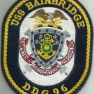 USS BAINBRIDGE DDG 96 Guided Missile Destroyer Military Patch COMPETENCE