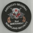 HOMELAND SECURITY 2nd AMENDMENT MOTORCYCLE BIKER JACKET VEST MILITARY PATCH