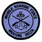 """MOBILE RIVERINE FORCE - MEKONG DELTA MILITARY PATCH - 3"""" Round"""