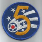 5th AIR FORCE - MILITARY PATCH - Fifth Air Force USAF