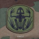 SKELETON FROGMAN FOREST TACTICAL COMBAT BADGE MORALE PVC VELCRO MILITARY PATCH