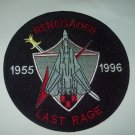 VF-24 US NAVY TOMCAT Aveation Fighter Squad Military Patch RENEGADES LAST RAGE