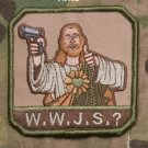 W.W.J.S.? - ARID - BLACK OPS TACTICAL BADGE MORALE VELCRO MILITARY PATCH