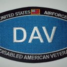 UNITED STATES AIRFORCE DISABLED AMERICAN VETERAN MILITARY PATCH - DAV HAT PATCH