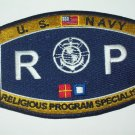 US Navy RELIGIOUS PROGRAM SPECIALIST Ratings Patch - RP - Military Patch