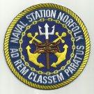 US NAVAL STATION NAS NORFOLK VIRGINIA MILITARY PATCH - AD REM CLASSEM PARATUS