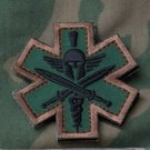 SPARTAN FOREST TACTICAL COMBAT MEDIC BADGE SPEC OPS MORALE VELCRO MILITARY PATCH