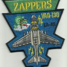 US NAVY ELECTRONIC ATTACK AIRCRAFT SQUADRON EA-6B ZAPPERS MILITARY PATCH VAQ-130