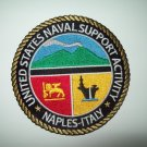 US NAVAL SUPPORT ACTIVITY * NAPLES - ITALY *  - MILITARY PATCH