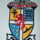 US Navy USS John S. McCain DDG-36 Military Patch