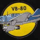 VB-80 US NAVY Aviation Bombing Squadron Eighty Military Patch WWII PATCH