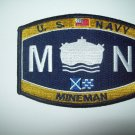 United States Navy MINEMAN Ratings Patch - MN - Military Patch