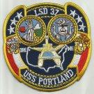 USS PORTLAND LSD-37 DOCK LANDING SHIP MILITARY PATCH SWEET PEA