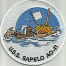 US NAVY - USS SAPELO AO-11 FLEET REPLENISHMENT OILER MILITARY PATCH PLUTO
