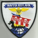 US NAVAL AIR STATION NAVSTA KEFLAVIK ICELAND SERVICE MILITARY PATCH - NASKEF