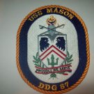 DDG-87 USS Mason Guided Missile Destroyer Military Patch PROUDLY WE SERVE