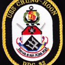 DDG-93 USS CHUNG-HOON Guided Missile Destroyer Military Patch