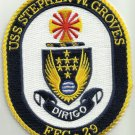 USS STEPHEN W GROVES FFG 29 Guided Missile Frigate Military Patch DIRIGO
