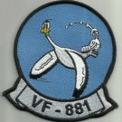 NAVY VF-881 AVIATION RESERVE FIGHTER SQUADRON MILITARY PATCH