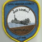 US NAVY USS MEEKER COUNTY LST 980 Tank Landing Ship Military Patch OLD LOVELY