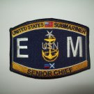 United States SUBMARINER Electrican's Mate Ratings Senior  Chief Military Patch