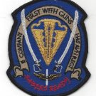 ARMY 1st BN 145th AVN B Co Military Patch FIRST WITH GUNS SABERS READY