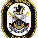 USS HALSEY DDG 97 Guided Missile Destroyer Military Patch HIT HARD FAST OFTEN