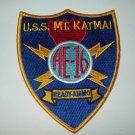 (AE-16) USS MOUNT KATMAI AMMUNITION SHIP MILITARY PATCH